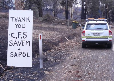 Post Sampson Flat fire