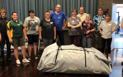 First training for 2021 – Air Shelter Team